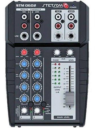 Mesa de Som Automotivo Stetsom 12v 2 Canais Stereo Stm0602