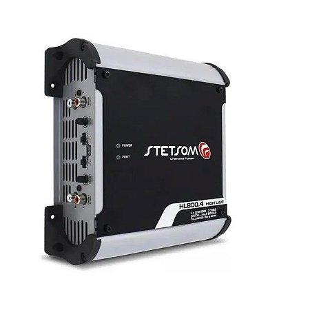 Amplificador Digital Stetsom Hl800.4 900w 4 Canais 2 Ohms