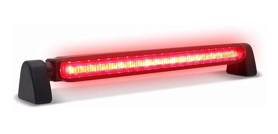 BRAKE LIGHT LUZ DE FREIO UNIVERSAL 24 LED VERMELHO 12V PRETO
