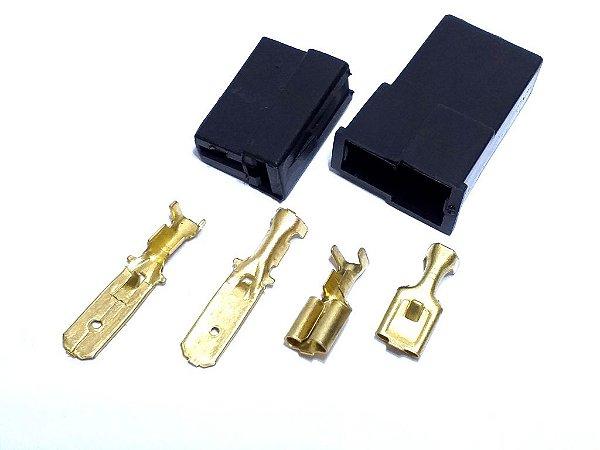 CONECTOR 2 VIAS COM TERMINAIS (IMPORTADO) - UNIDADE CÓD. 35/E1