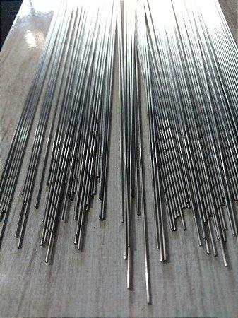 Arame de Aço Inox Polido - 1 metro x 1mm - Pacote com 1 Kg.