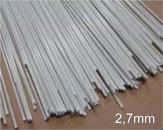 Varetas de fibra para Gaiolas, Pipas e Artesanato em geral, 2,7 mm - Branco Pacote com 1 Kg