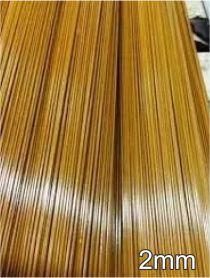 Varetas de fibra para Gaiolas, Pipas e Artesanato em geral, 2,0 mm - Marrom Pacote com 1 Kg