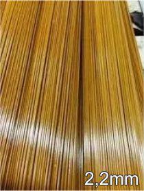 Varetas de fibra para Gaiolas, Pipas e Artesanato em geral, 2,2 mm - Marrom Pacote com 1 Kg