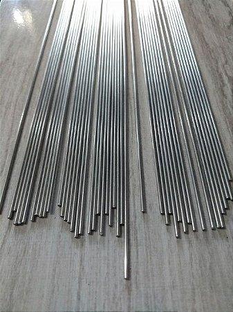 Arame de Aço Inox Polido - 1 metro x 1,6 mm - Pacote com 10 unidades.