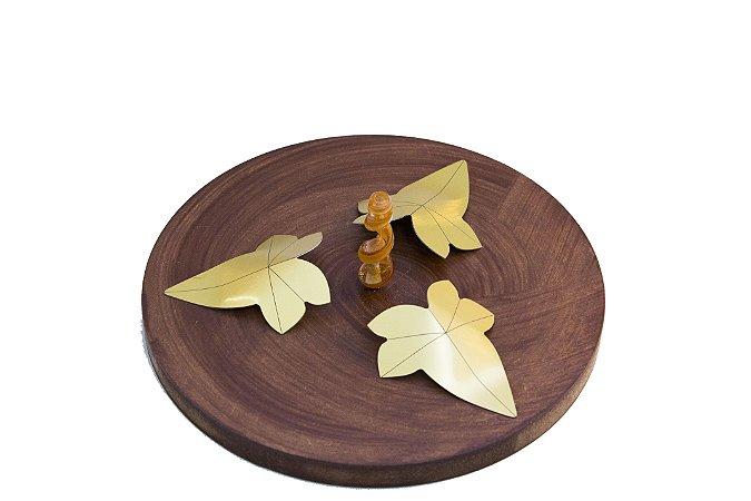 Incensário Decorativo de Madeira Metal e Murano - 3 Modelos - ATHENA