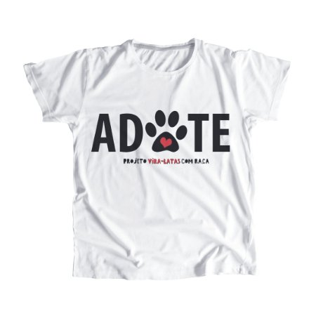 """Camiseta Feminina Baby Look """"ADOTE"""""""