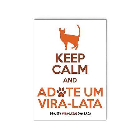 """Ímã """"Keep Calm - Gato"""""""