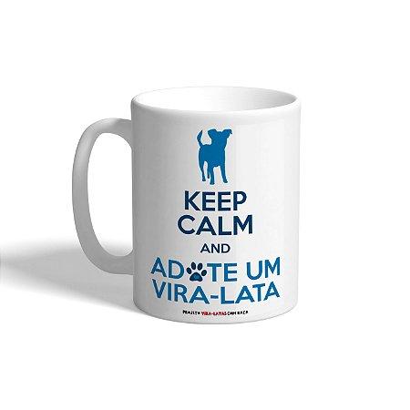 """Caneca de Porcelana """"Keep Calm - Cachorro"""""""
