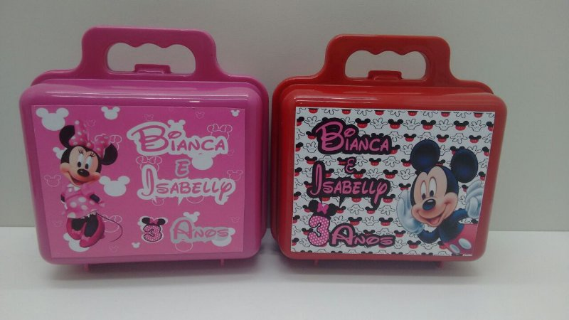 10 Maletinha Personalizada Mickey Minnie