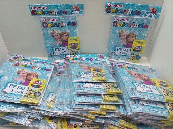 10 Revista colorir frozen