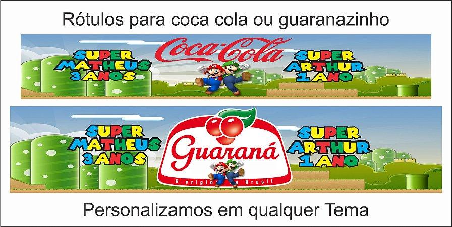 Rótulo para coca cola ou guaranazinho.