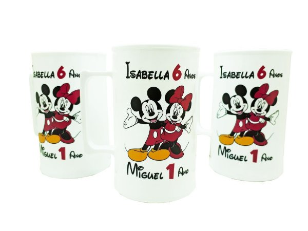 10 Caneca Mickey e Minnie