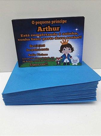Convite Pequeno Príncipe 10x7 (Com envelope)