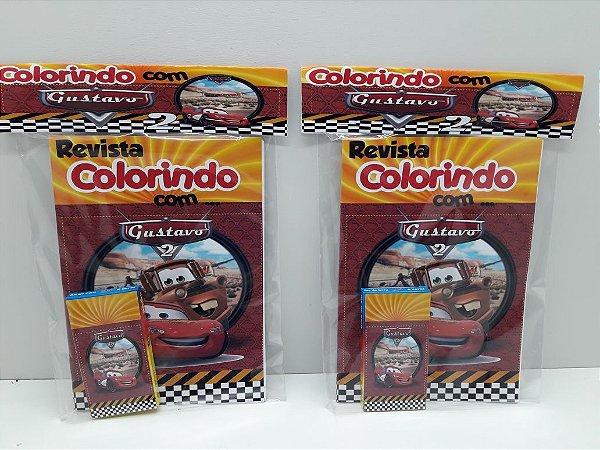 10 Revista de colorir Carros Disney (Personalizamos em todos os temas)