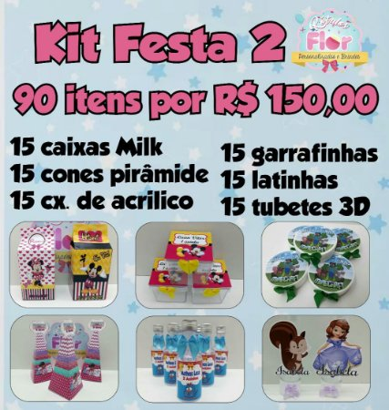 Kit Festa 90 Ítens (Personalizamos em todos os temas)