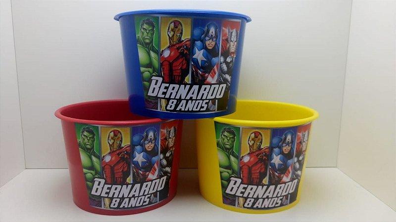 10 Balde de Pipoca Vingadores 1,5 litros