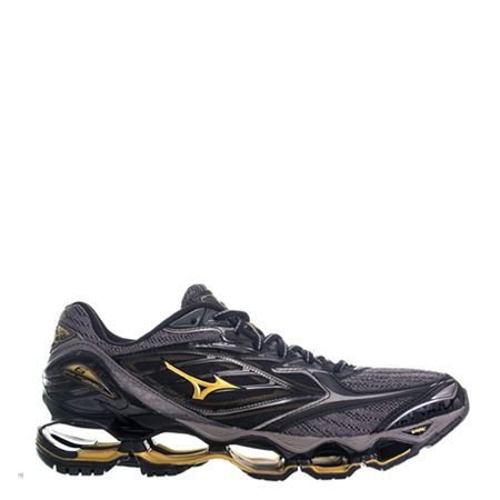 Tênis Mizuno Wave Prophecy 6 Preto   Dourado - WordShoes.com 96b66be521b66