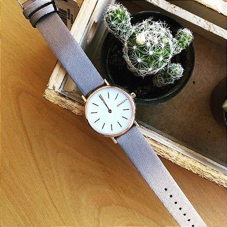 Relógio Feminino Skagen Analógico Signatur Rosé SKW26971CN