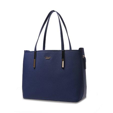 Bolsa Feminina Vogue em Couro Sintético Azul MOd: VG19548