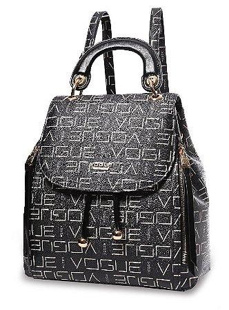 Bolsa Feminina Vogue em Couro Sintético Mod: VG19542 Preto