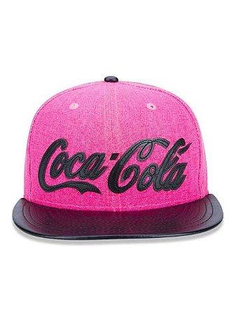 Boné New Era Original 9FIfTy Coca Cola Pink Aba Reta