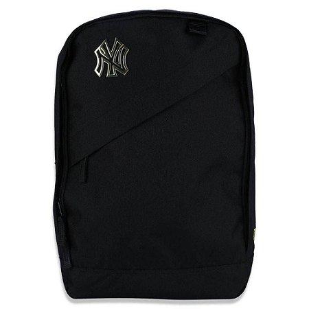 Mochila New Era MLB Basica New York Yankees Preta com Zíper