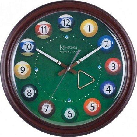 Relógio De Parede Herweg Analógico Mesa de Bilhar 6469084
