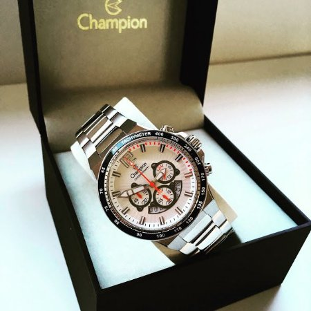 Relógio Champion Masculino Cronógrafo Prata  Ca30463Q