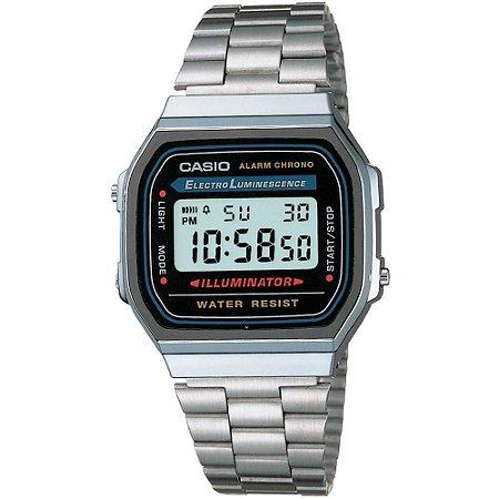 Relógio Unissex Casio Vintage Digital Fashion A168WA-1WDF