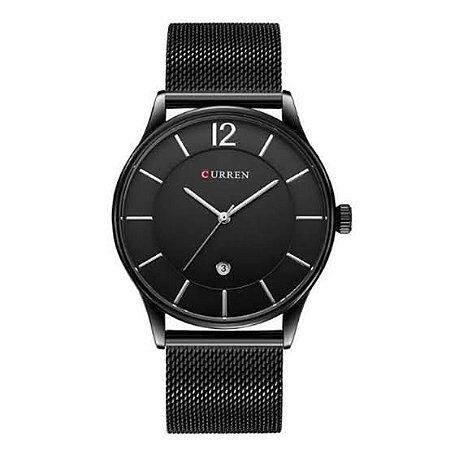 Relógio Masculino Curren Analógico Preto Mod: 8231