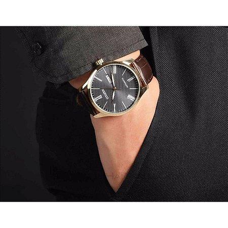 Relógio Masculino Citizen em Couro Automático TZ20804P