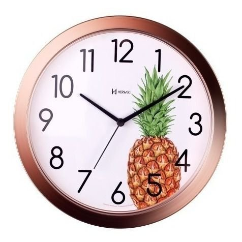 Relógio de Parede Herweg Analógico Abacaxi Mod 660048309