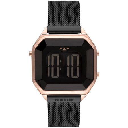 Relógio Feminino Digital Grafite Technos Crystal BJ3851AM4P
