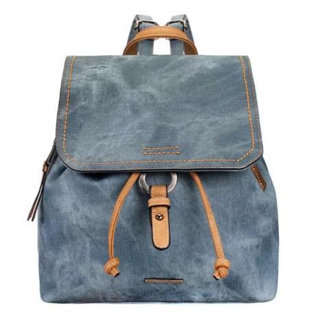 Bolsa Mochila Feminina Mormaii Azul com Detalhes em Costura