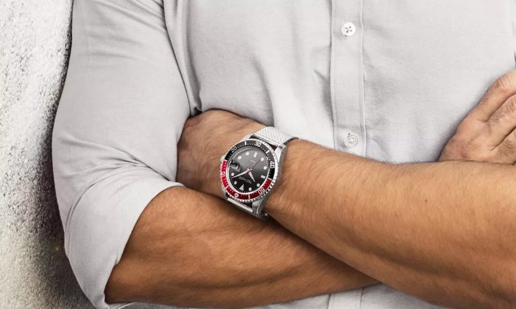 Relógio Masculino Technos Prata Skymaster Caixa Preta 2415CJ0P