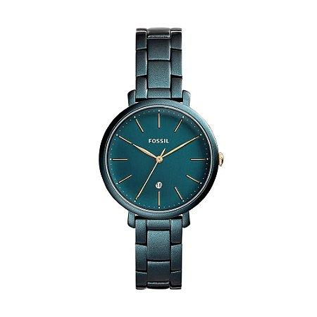 Relógio Feminino Fóssil Slim Verde Água Analógico ES44091VN