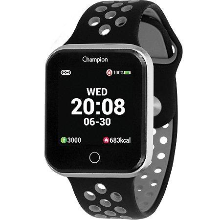 Relógio Champion Smatwatch Preto e Cinza CH50006C