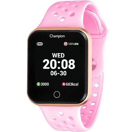 Relógio Champion Smartwatch Preto e rosa CH50006R