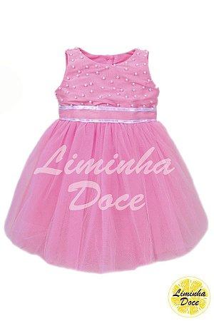 Vestido Dama de Honra Rosa - Infantil