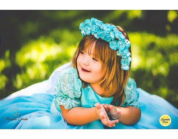 Vestido para Daminha Azul Tiffany - Infantil
