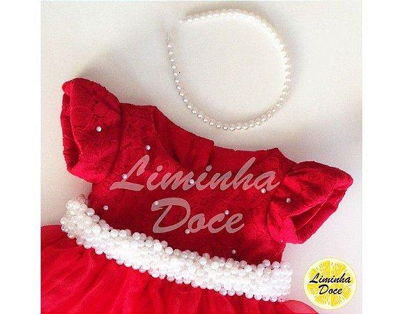 Vestido Social Vermelho - Infantil