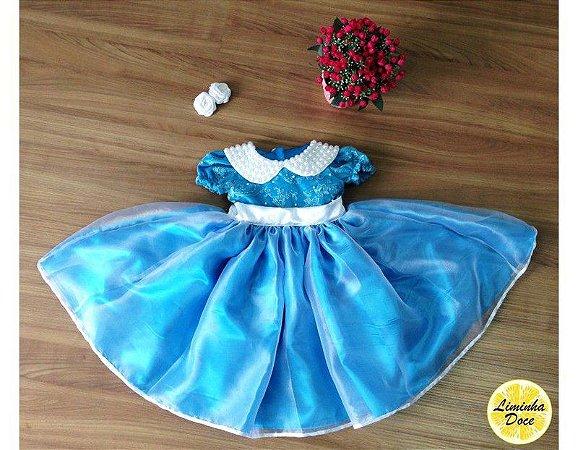 Vestido Azul de Daminha - Infantil