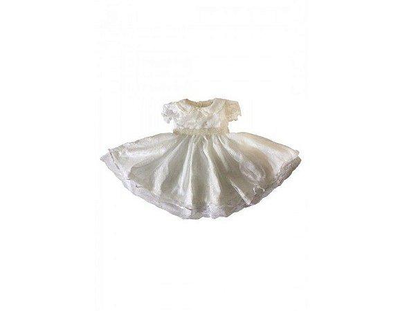 Vestido Branco com Renda Especial - Infantil