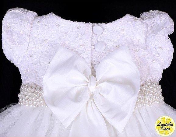 Vestido de Luxo para Batizado - Infantil