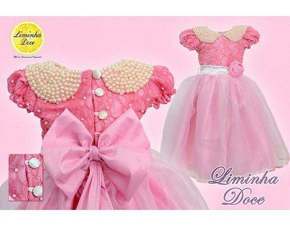Vestido Rosa Para Daminha - Infantil