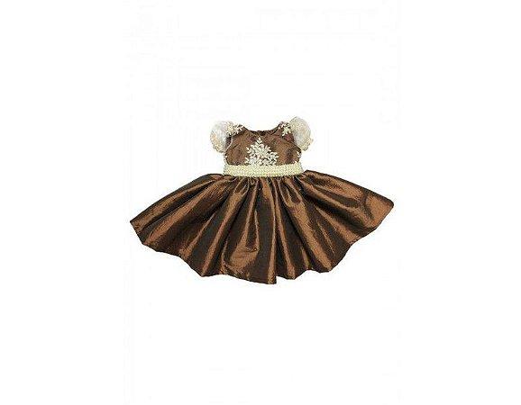 Vestido de Princesa Dourado - Infantil