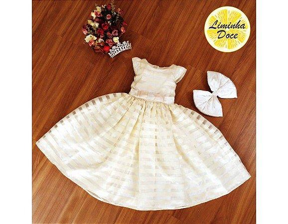 Vestido de Daminha Pérola - Infantil