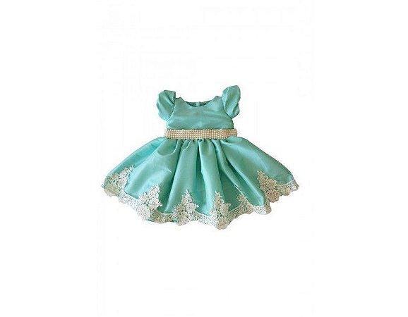 Vestido de Daminha Verde Água - Infantil