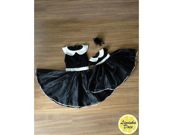 Vestido de Luxo Preto - Tal Mãe Tal Filha